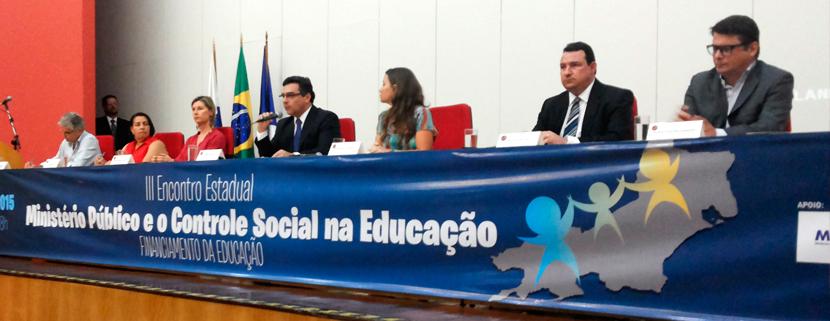 Undime-RJ participa do III Encontro Estadual Ministério Público e o Controle Social na Educação – Financiamento da Educação